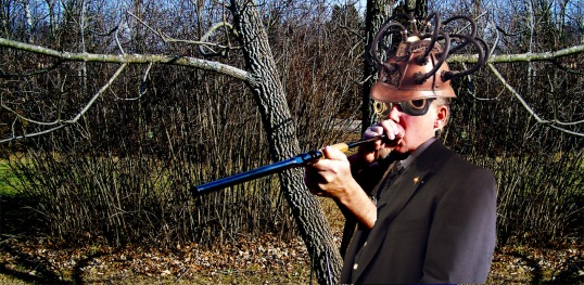 Feral demonstrates a (patent pending) blowgun firearm
