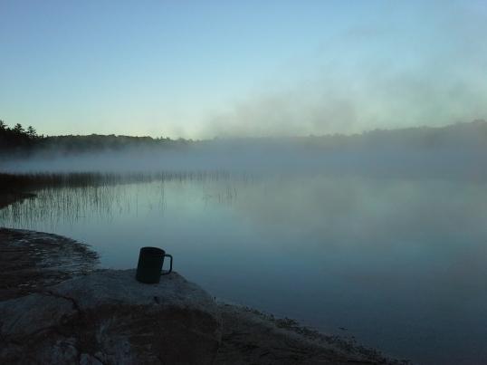 Morning coffee, Pickeral Lake