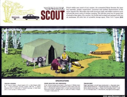 1961 Apache Scout Ad