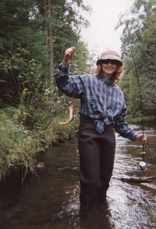 Patti with Brown Trout
