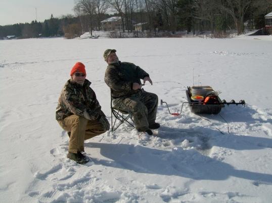 Feral and Chuck, Pettibone Lake.