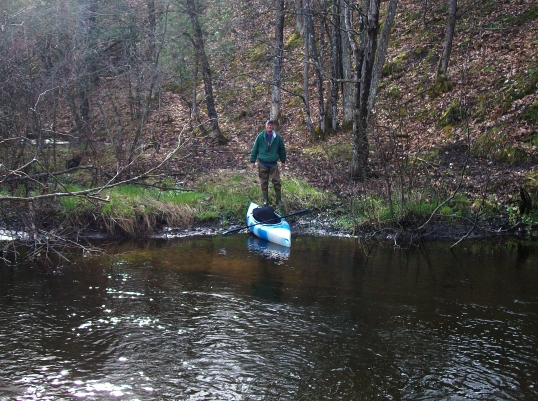 Kayak angler on the Pine River