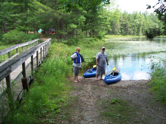 Chuck and Rita on Shelly Lake